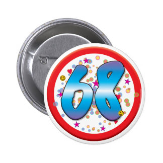 68th Birthday Buttons