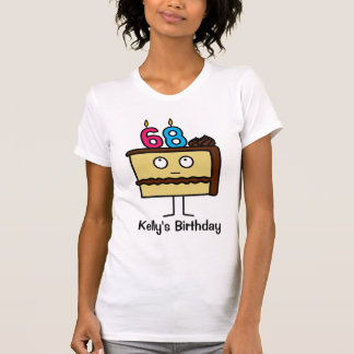 68th Birthday Cake with Candles T-Shirt