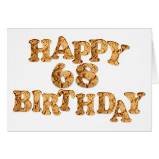 68th Birthday card for a cookie lover