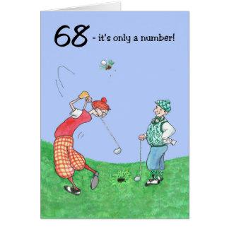 68th Birthday Card for a Golfer