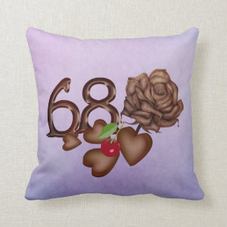 68th birthday Chocolate rose and hearts pillows Pillow
