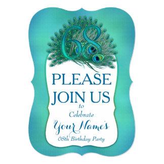 68th Birthday Invitations Personalized Announcement