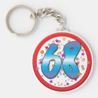 68th Birthday Key Chain