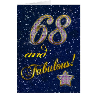 68th Birthday party Invitation Greeting Card