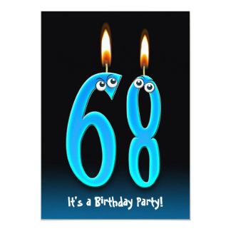 """68th Birthday Party Invite 5"""" X 7"""" Invitation Card"""