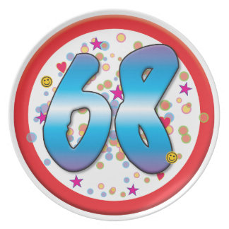 68th Birthday Plates
