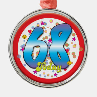 68th Birthday Today Christmas Ornaments