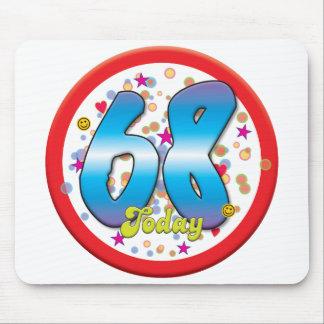 68th Birthday Today Mouse Pads