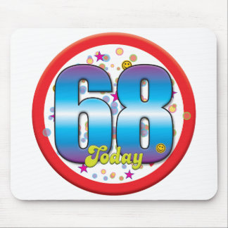 68th Birthday Today v2 Mousemats