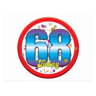 68th Birthday Today v2 Postcards