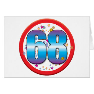 68th Birthday v2 Cards