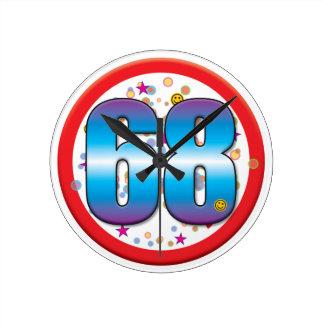 68th Birthday v2 Wallclocks