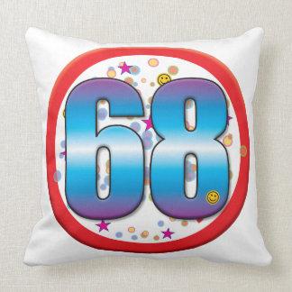 68th Birthday v2 Throw Pillows