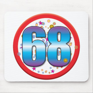 68th Birthday v2 Mouse Pads