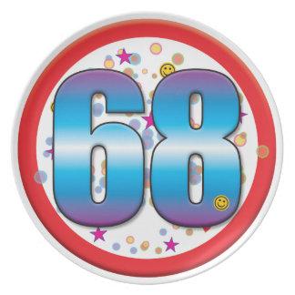 68th Birthday v2 Dinner Plates