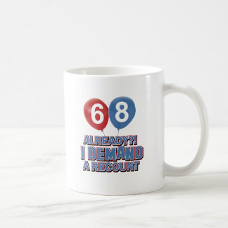 68th year birthday designs basic white mug