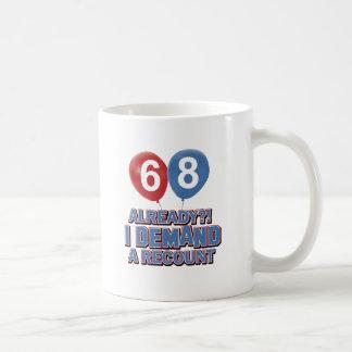 68th year birthday designs coffee mug