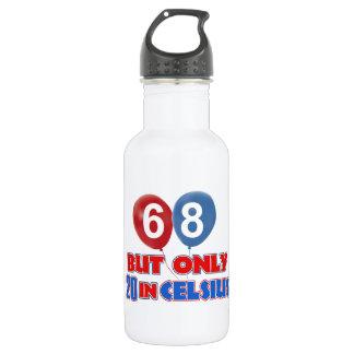 68th year birthday designs 532 ml water bottle