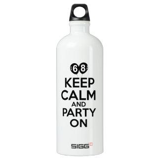 68th year birthday designs SIGG traveller 1.0L water bottle