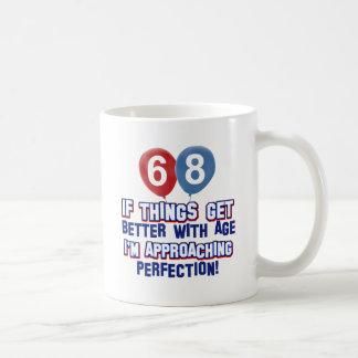 68th year old birthday design coffee mugs