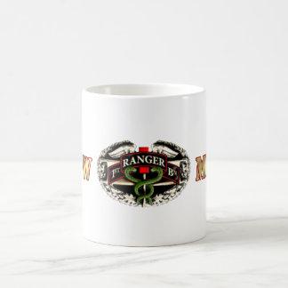 68W Medic 75th Ranger 1st Battalion Basic White Mug
