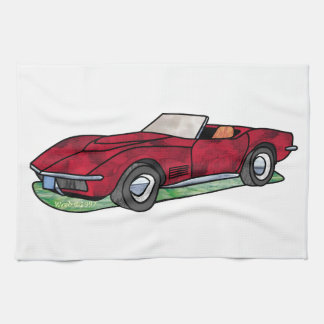 69 Corvette Sting Ray Roadster Hand Towel
