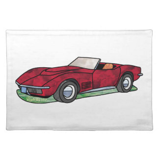 69 Corvette Sting Ray Roadster Place Mat