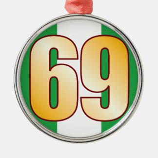 69 NIGERIA Gold Silver-Colored Round Decoration