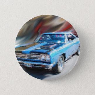 69 road runner 6 cm round badge