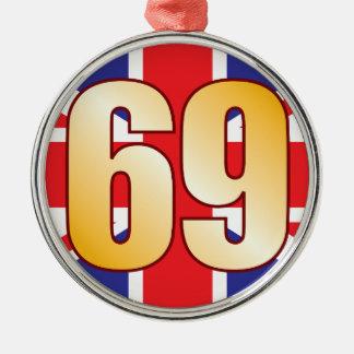 69 UK Gold Christmas Ornament