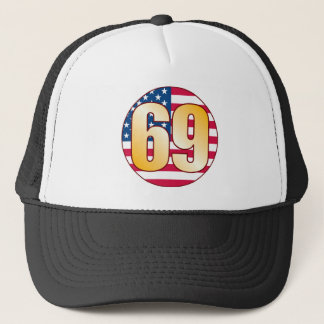 69 USA Gold Trucker Hat