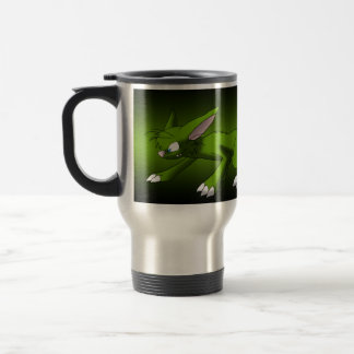 69A500 Dark Green Cat Dragon Stainless Steel Travel Mug