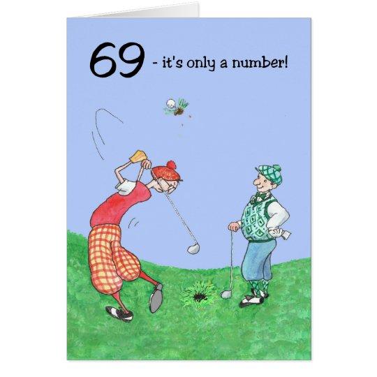 69th Birthday Card for a Golfer