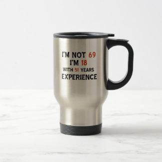 69th birthday designs travel mug