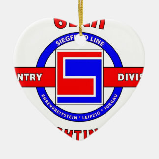 """69TH INFANTRY DIVISION """"THE FIGHTING 69TH"""" CHRISTMAS ORNAMENT"""