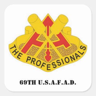 69th U.S.A.F.A.D. Square Sticker