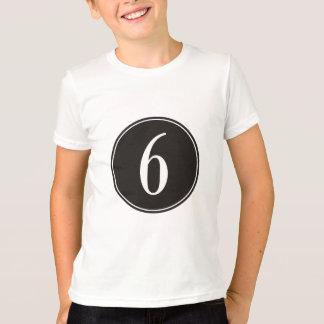 #6 Black Circle T-Shirt