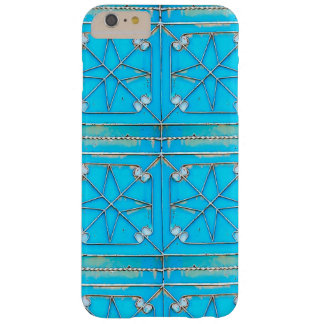 6+ Blue Door Rusty vintage Steel Metal Door Barely There iPhone 6 Plus Case