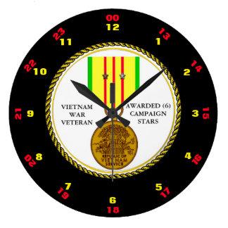 6 CAMPAIGN STARS VIETNAM WAR VETERAN CLOCKS