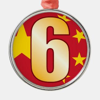 6 CHINA Gold Christmas Ornament