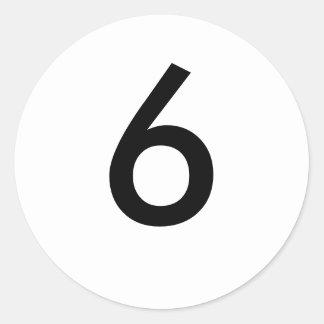 6 CLASSIC ROUND STICKER