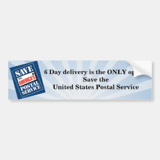 6 day delivery bumper sticker