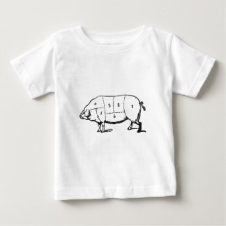 6 Degrees of  Bacon Baby T-Shirt