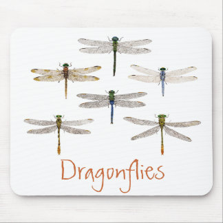 6 Dragonflies Mousepad