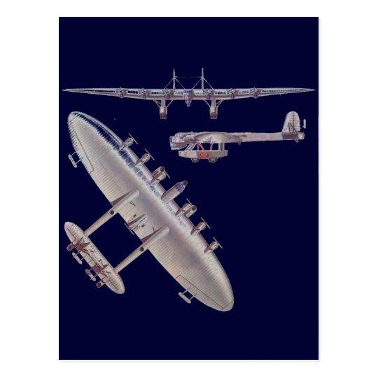 6 Engine Commuter Aircraft Postcard