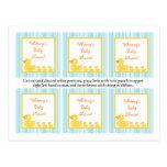 6 Favour Tags Rubber Ducky Bubbles Postcard