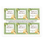 6 Favour Tags Safari Jungle Giraffe Green