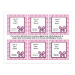 6 Favour Tags Sugar Plum Butterfly