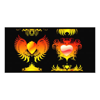 6-fire-flames-banners personalised photo card