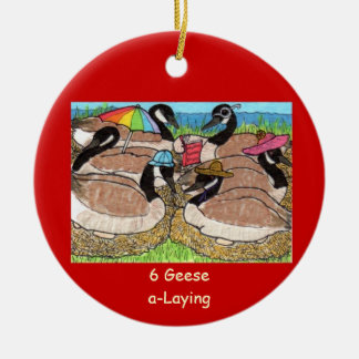 6 Geese a-Laying Christmas Ornament